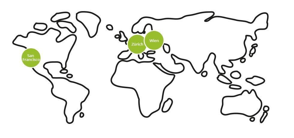 Weltkarte, Standorte
